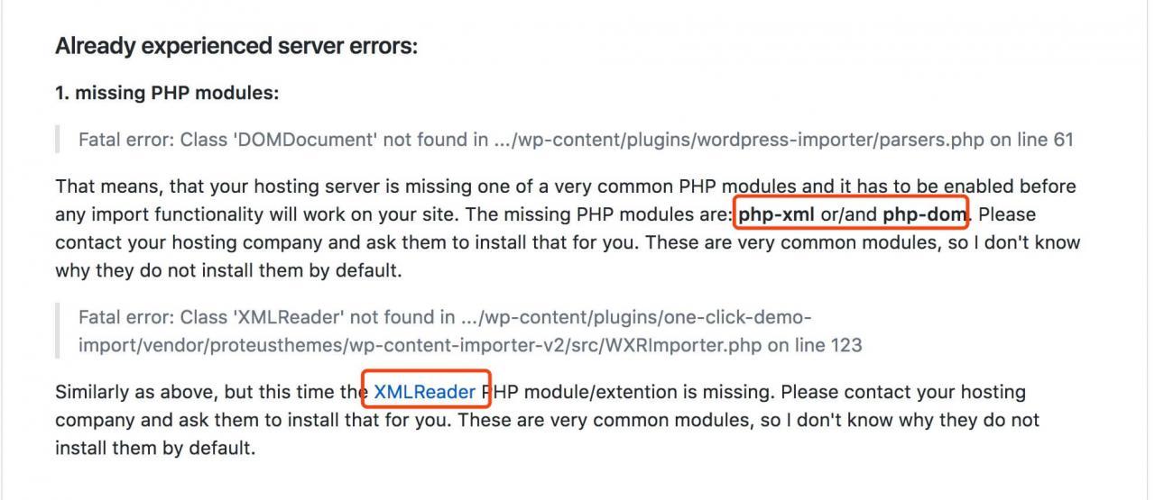 WPCOM主题导入演示出现500错误的解决办法 网站开发