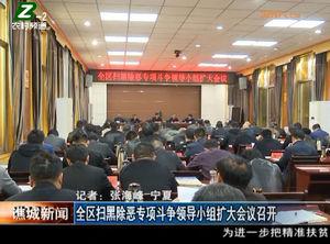 全区扫黑除恶专项斗争领导小组扩大会议召开 自媒体