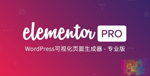 WordPress插件可视化编辑器-Elementor Pro 2.4.8汉化版 破解版送扩展 持续更新