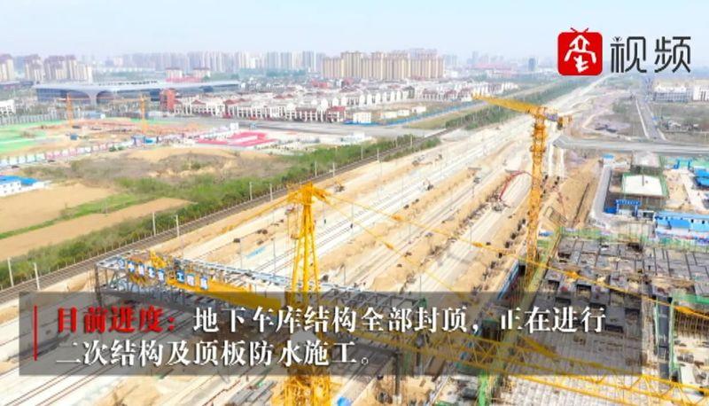 """【航拍】""""飞""""瞰不可!走,坐""""灰机""""去看亳州高铁枢纽站建设现场~ 自媒体"""