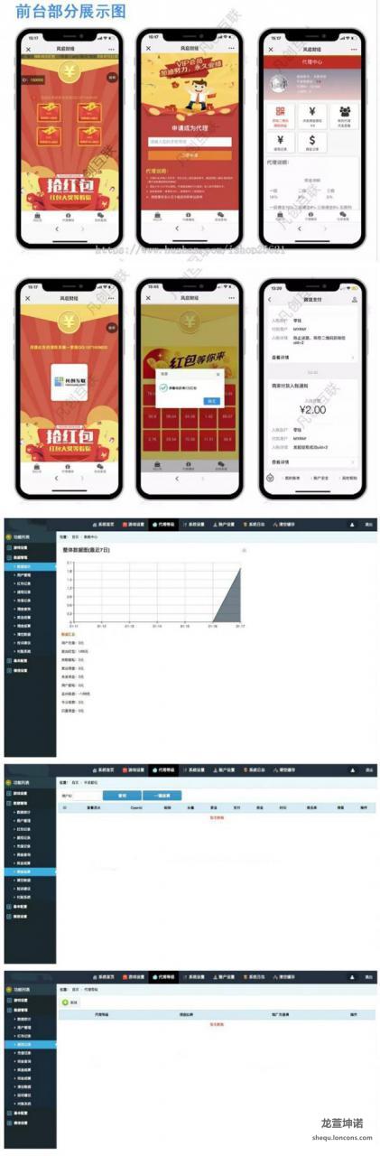 2019最新版H5拼手气红包源码 H5红包互换源码,带自动提现三级分佣和第三方支付功能