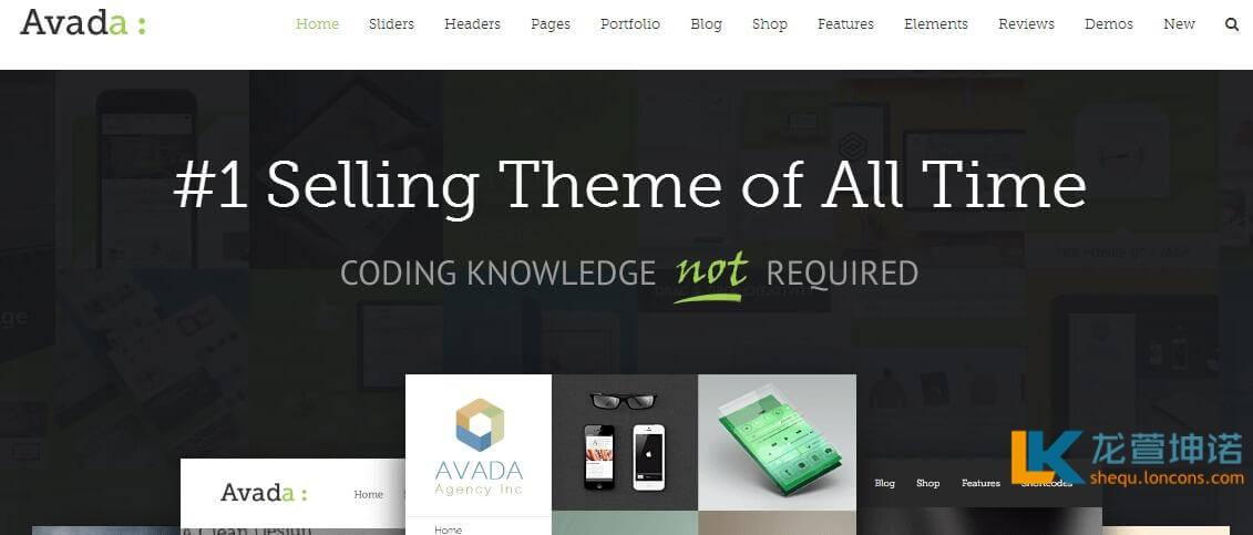 WordPress主题Avada主题 支持在线更新 企业主题 cms主题 高级付费主题
