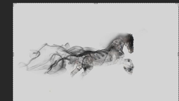 ps酷炫技巧:用PS制作一匹烟雾骏马 软件教程