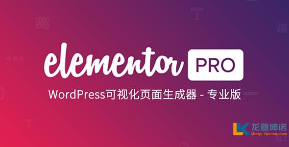 Elementor Pro 2.10.2插件 wordpress 可视化编辑器汉化版 破解版