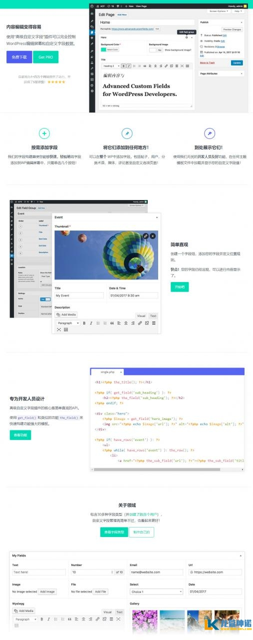 advanced custom fields pro 5.8.7汉化版 wordpress高级自定义字段插件