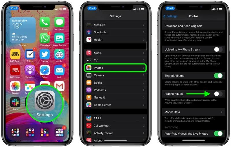 iOS 14 教程:如何隐藏和显示「照片」中的隐藏相册?