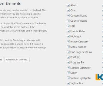 Avada主题优化加速禁用Avada主题中未使用的元素