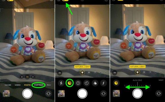 在 iPhone 12 Pro 上如何使用夜间模式拍摄人像照片?