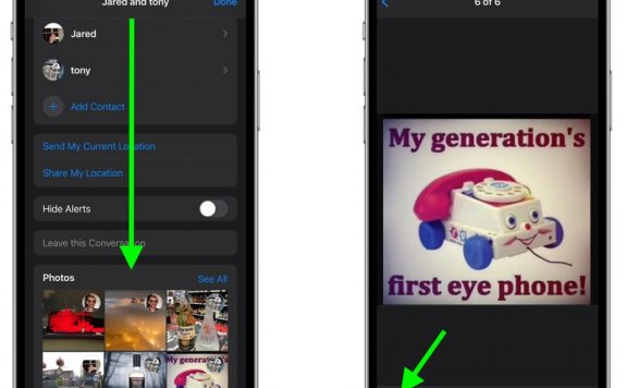 如何在 iPhone 的「信息」中保存收到的文件?